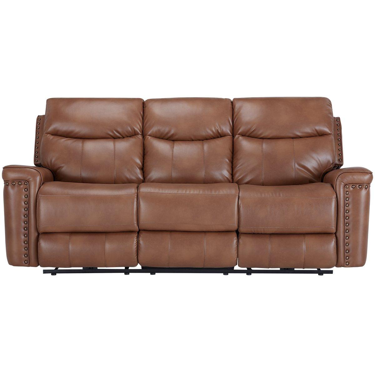 Wallace Medium Brown Microfiber Micro Reclining Sofa