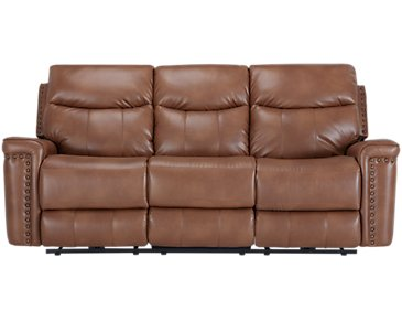 Wallace Medium Brown Microfiber Reclining Sofa