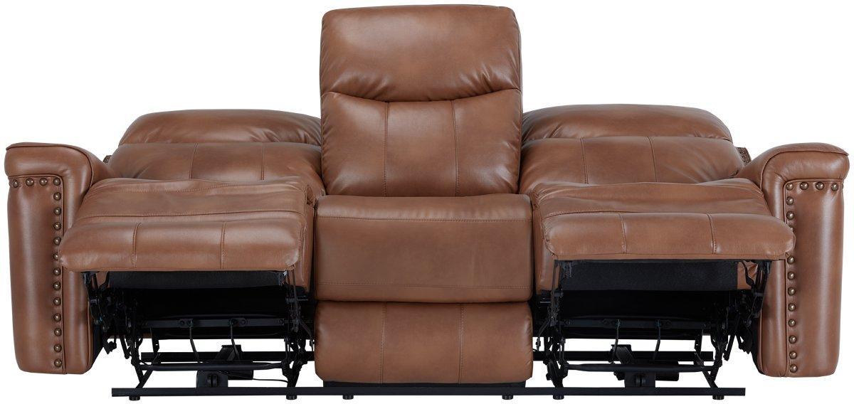 Wallace Medium Brown Microfiber Reclining Sofa