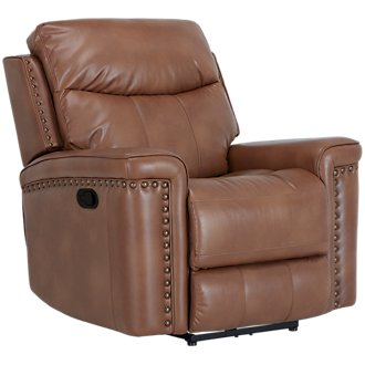 Wallace Medium Brown Microfiber Glider Recliner