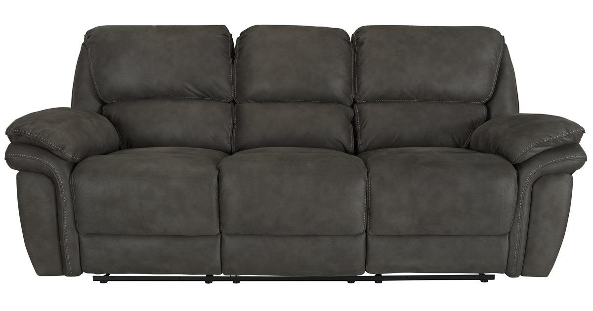 sc 1 st  City Furniture & City Furniture: Kirsten Dk Gray Microfiber Power Reclining Sofa islam-shia.org