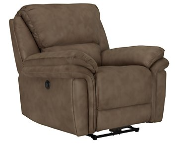 Kirsten Medium Brown Microfiber Power Recliner