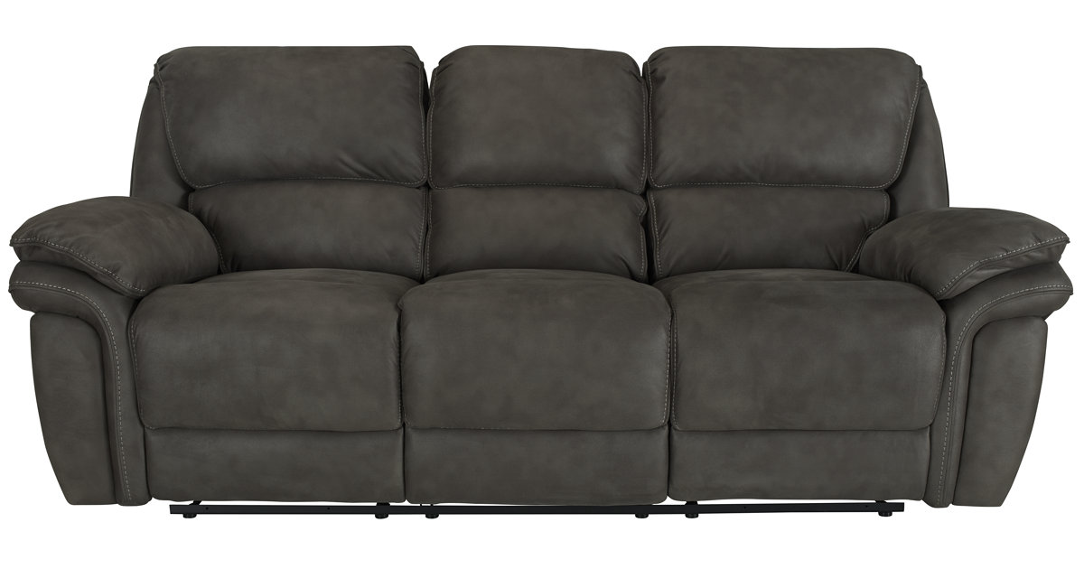 sc 1 st  City Furniture & City Furniture: Kirsten Dk Gray Microfiber Reclining Sofa islam-shia.org
