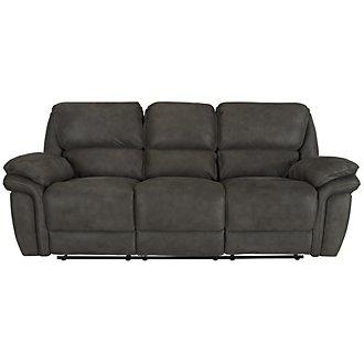 Kirsten Dark Gray Microfiber Reclining Sofa