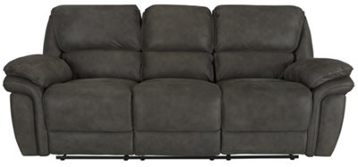 Kirsten Dark Gray Microfiber Reclining Sofa Part 37