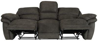 Kirsten Dark Gray Microfiber Reclining Sofa. VIEW LARGER  sc 1 st  City Furniture & City Furniture: Kirsten Dk Gray Microfiber Reclining Sofa islam-shia.org