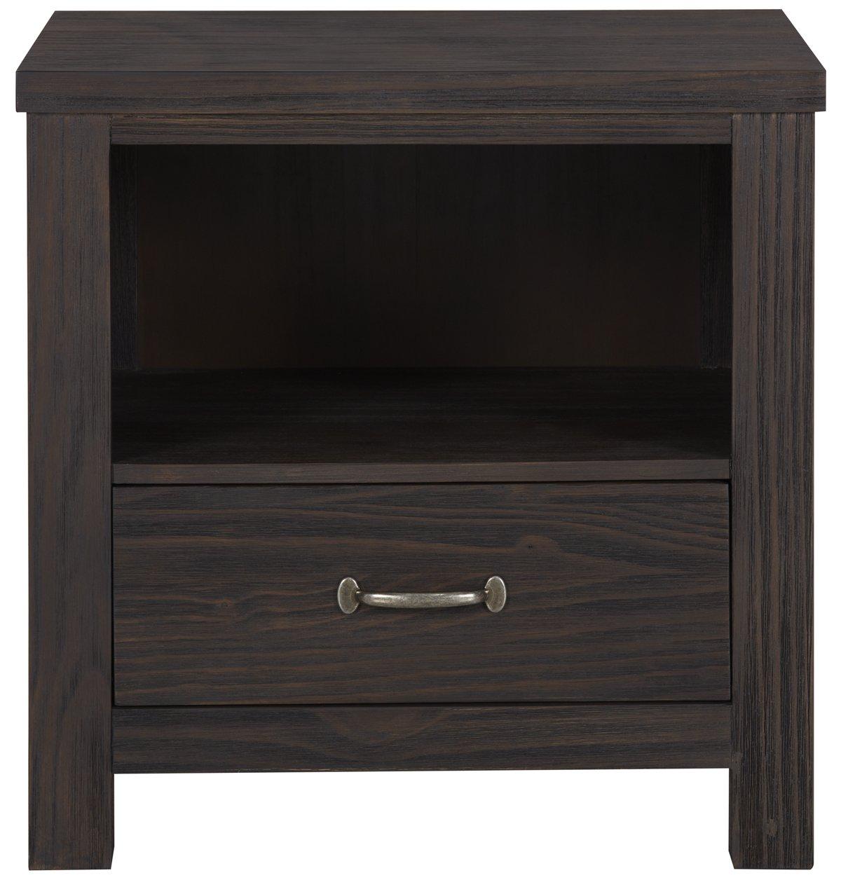 Highlands Dark Tone Wood Nightstand