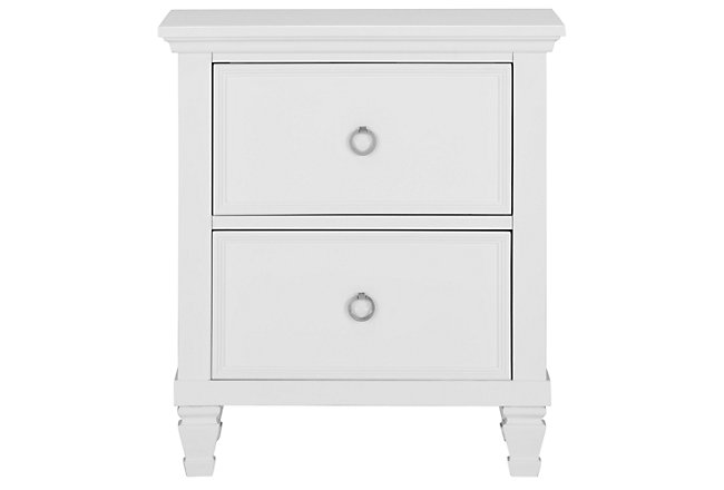 Tamara White Wood Nightstand