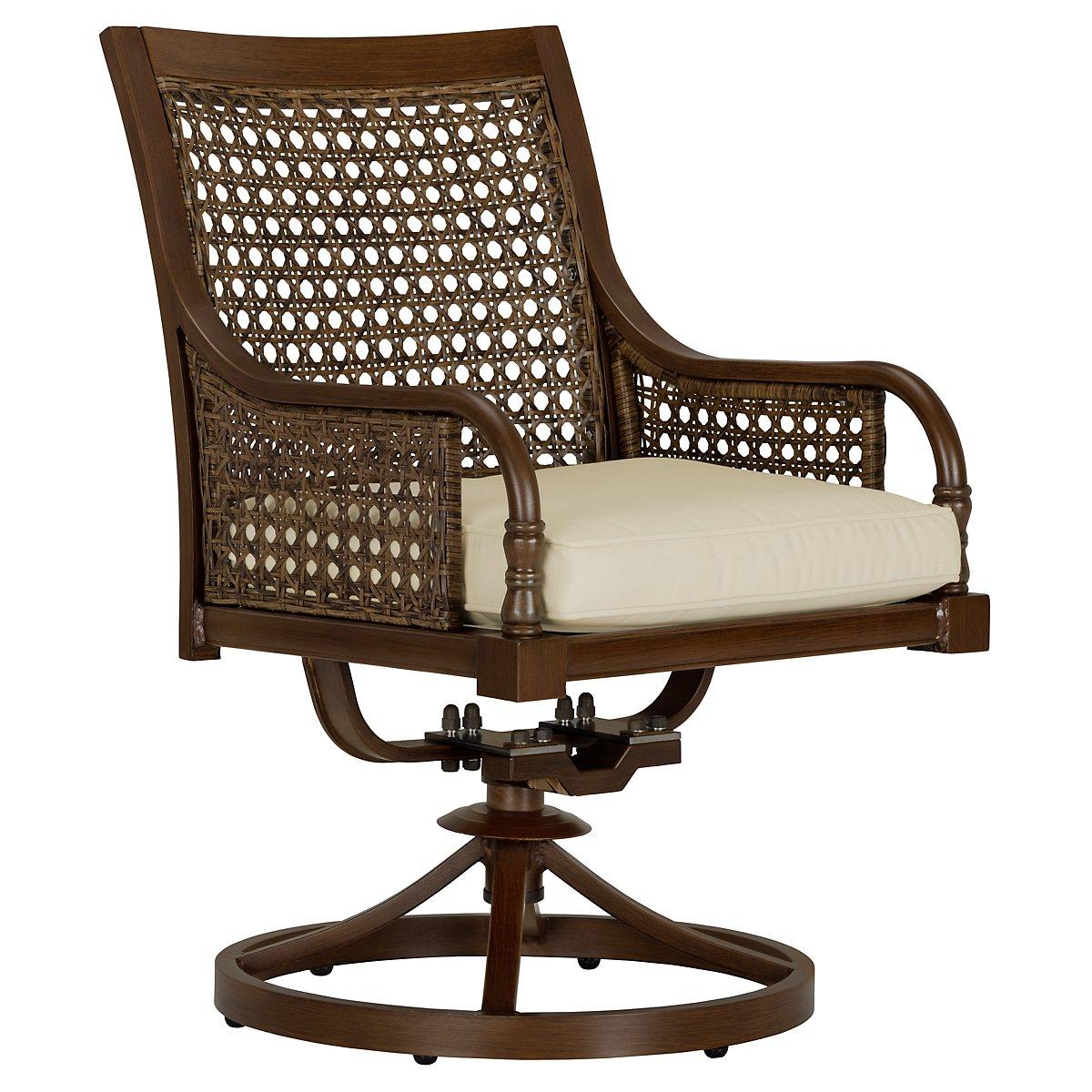Tradewinds Dark Tone Swivel Arm Chair