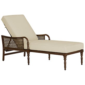 Tradewinds Dark Tone Cushioned Chaise