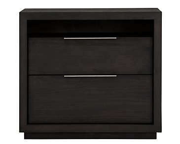 Madden Dark Tone 2-Drawer Nightstand