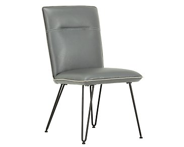 Demi Dark Gray Upholstered Side Chair