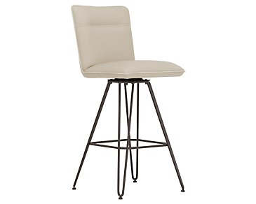 "Demi Taupe Upholstered 30"" Swivel Barstool"