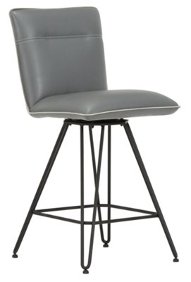 Demi Dark Gray Upholstered 24  Swivel Barstool  sc 1 st  City Furniture & City Furniture: Demi Dk Gray Leather 24