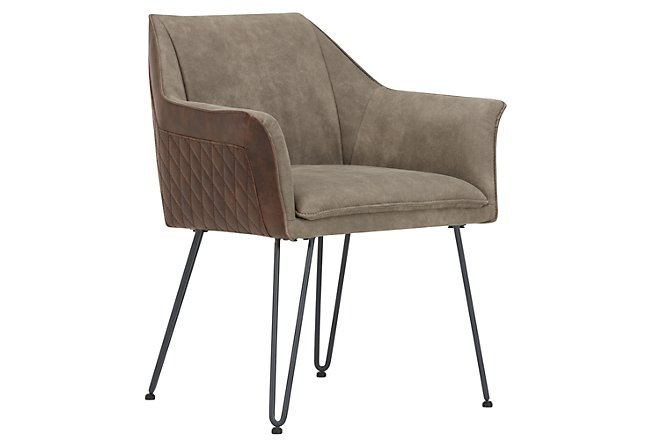 Adalyn Taupe Upholstered Arm Chair