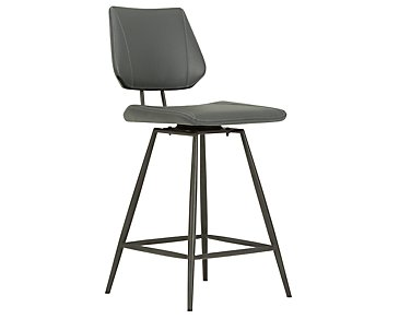"Gunnar Dark Gray 24"" Upholstered Barstool"