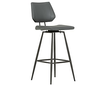 "Gunnar Dark Gray 30"" Upholstered Barstool"