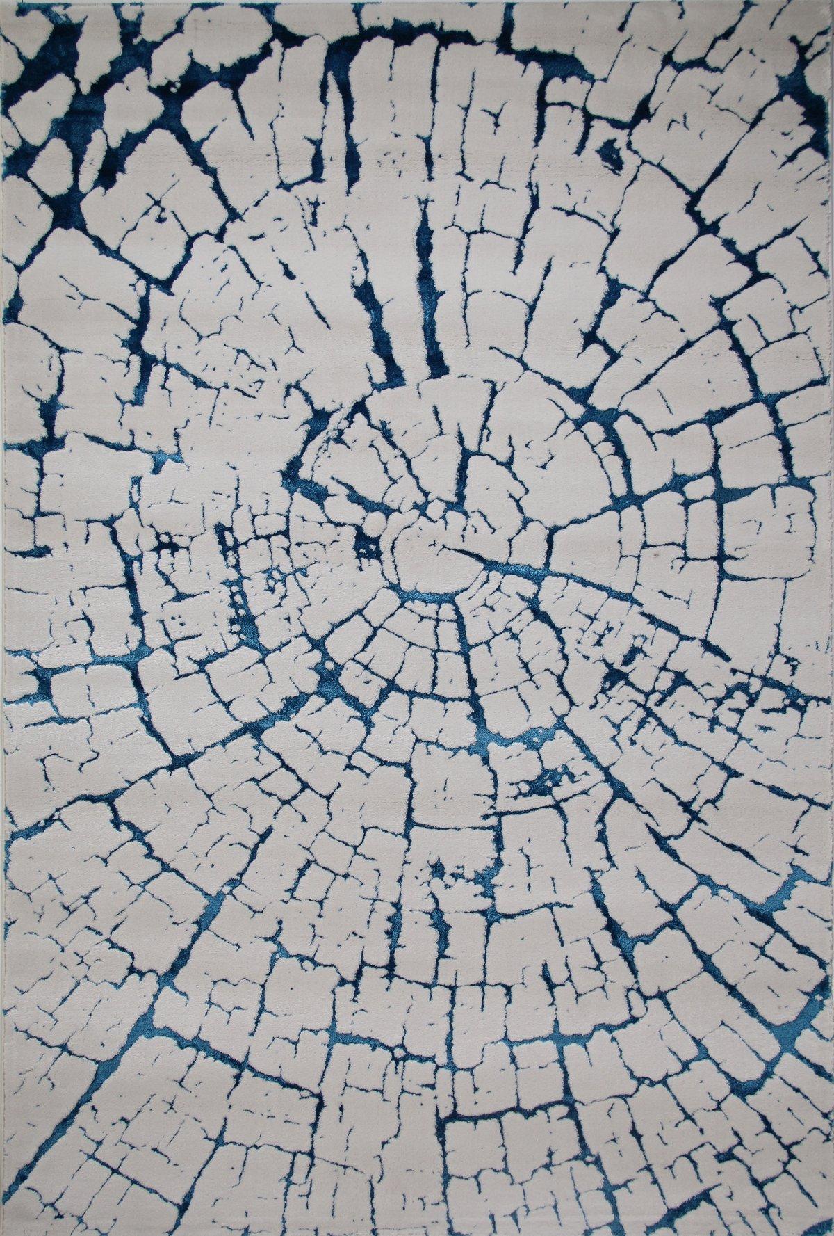 Kanai Blue Poly Blend 5x8 Area Rug