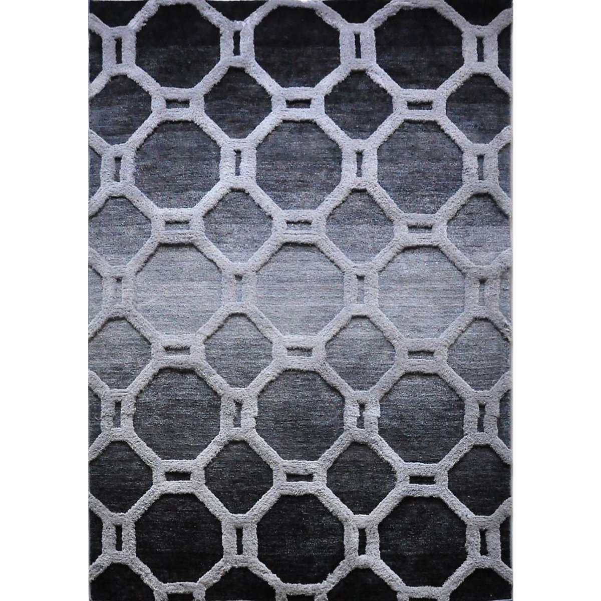 Louvre Dark Gray 5X8 Area Rug