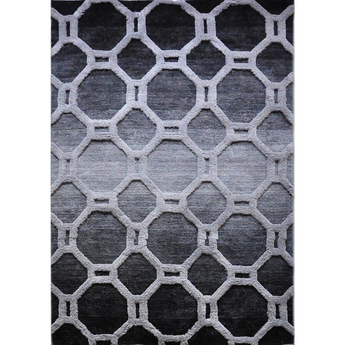 Louvre Dark Gray 8X10 Area Rug