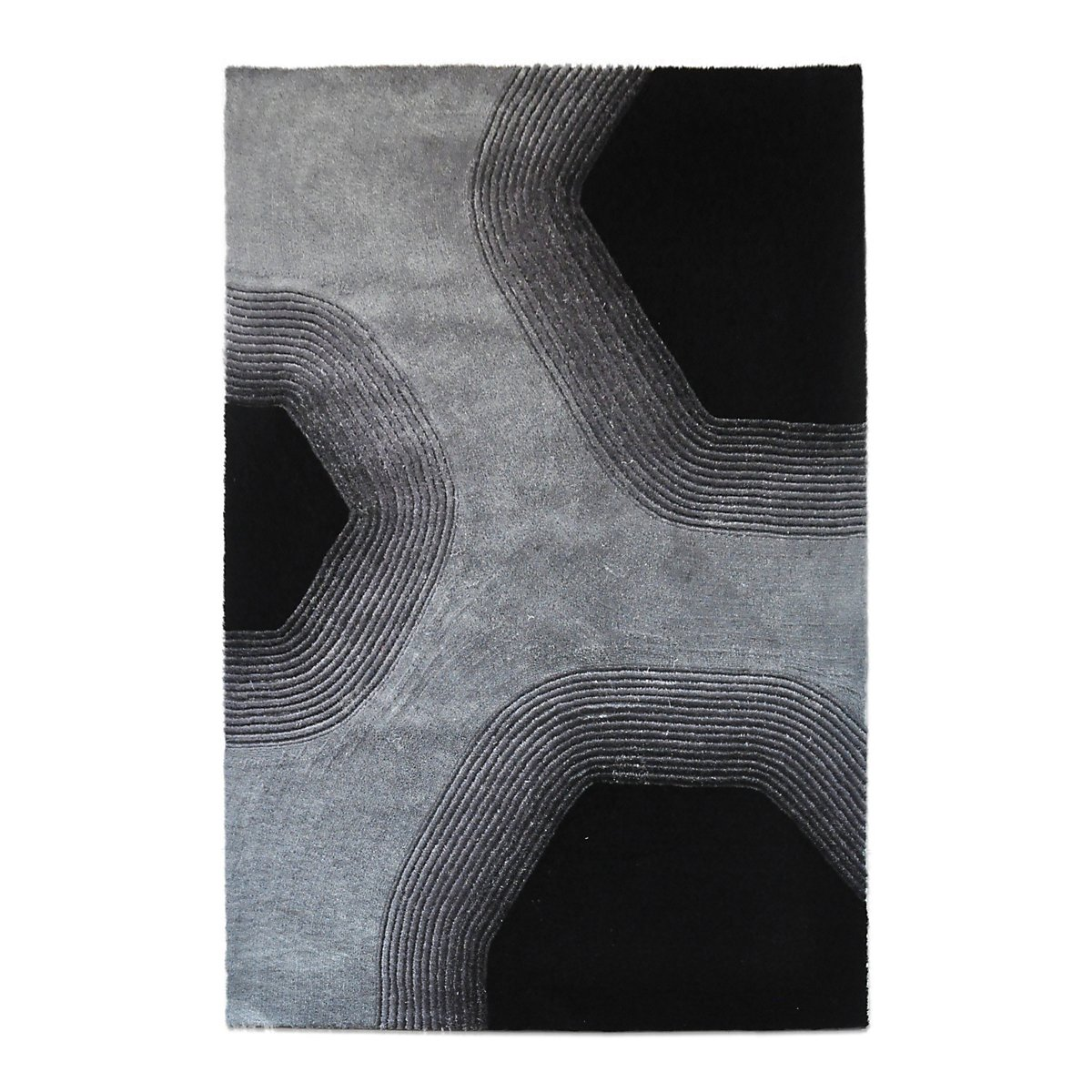 Relief Gray 5X8 Area Rug