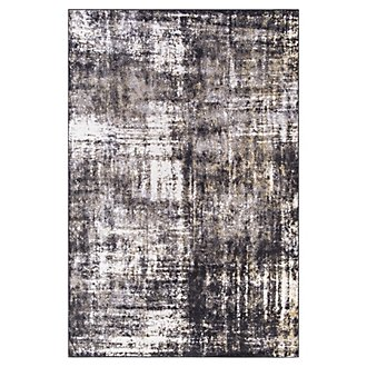 Unique Black 5X8 Area Rug