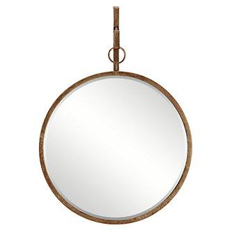 Ronda Dark Gold Round Mirror