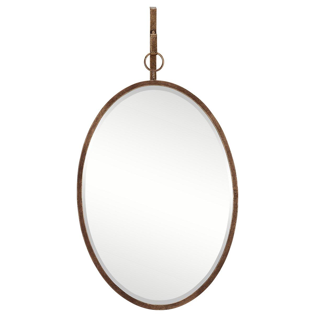 Ava Dark Gold Oval Mirror