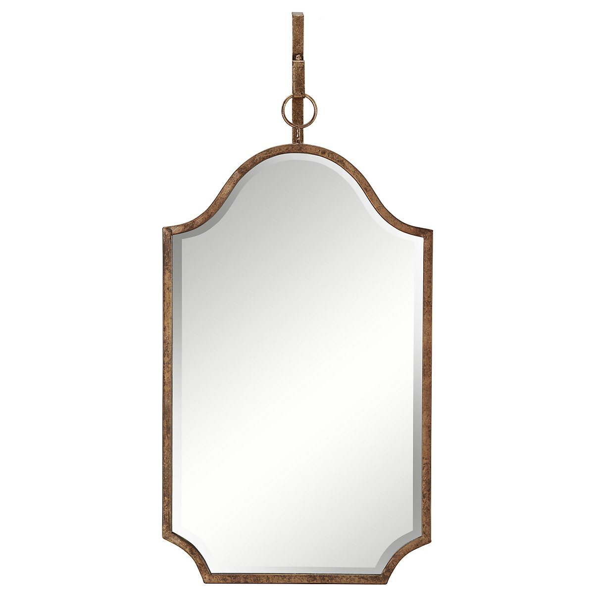 Cuadra Dark Gold Curved Mirror