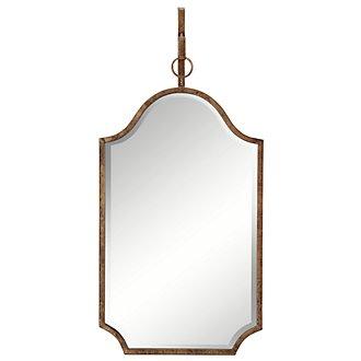 Cuadra Dark Gold Curved Mirror