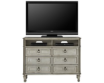 Sloane Silver Media Chest