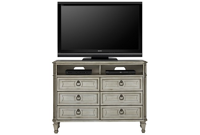 Sloane Silver Wood Media Chest