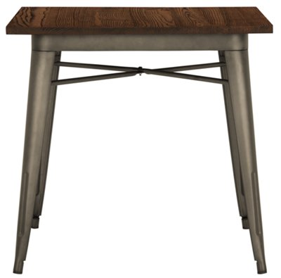 Huntley Dark Tone Square Table