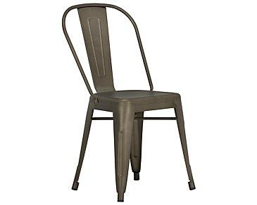Huntley Dark Tone Metal Side Chair