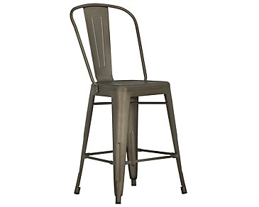 "Huntley Dark Tone Metal 24"" Barstool"