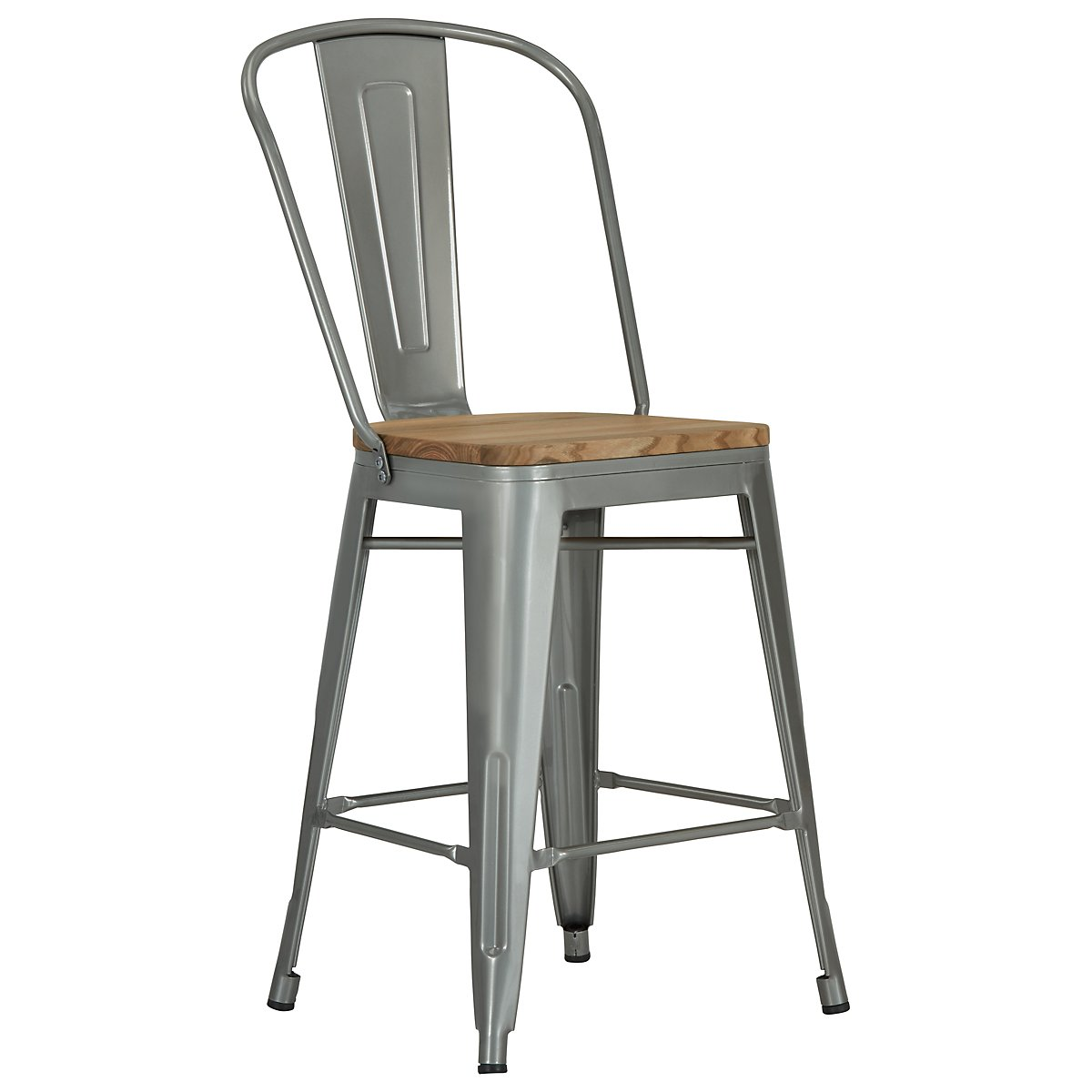 "Huntley Light Tone 24"" Wood Barstool"
