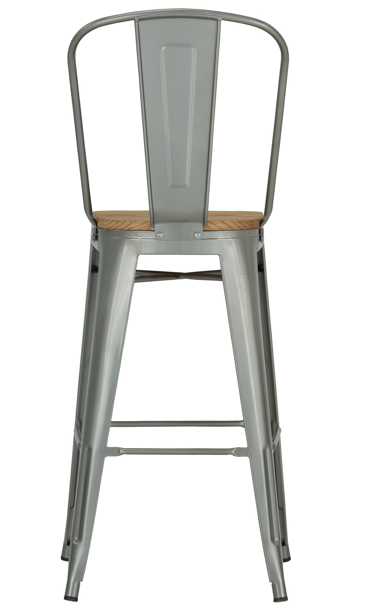 "Huntley Light Tone Wood 30"" Wood Barstool"