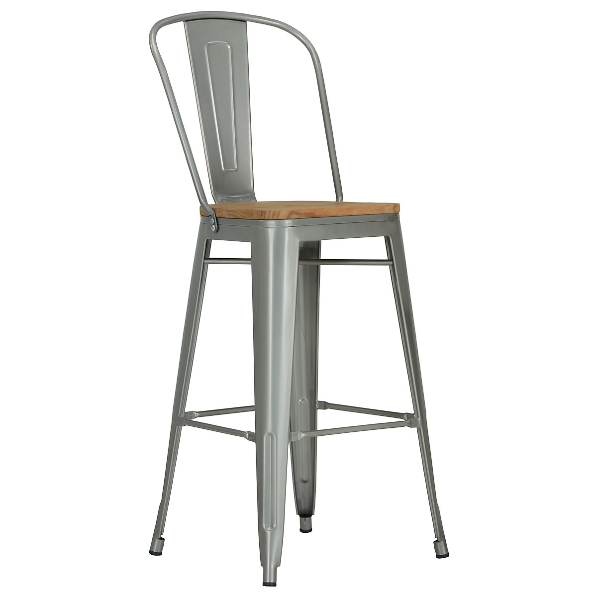 "Huntley Light Tone 30"" Wood Barstool"
