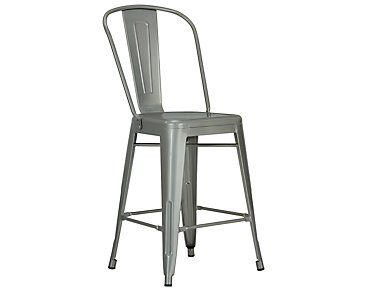 "Huntley Light Tone Metal 24"" Barstool"