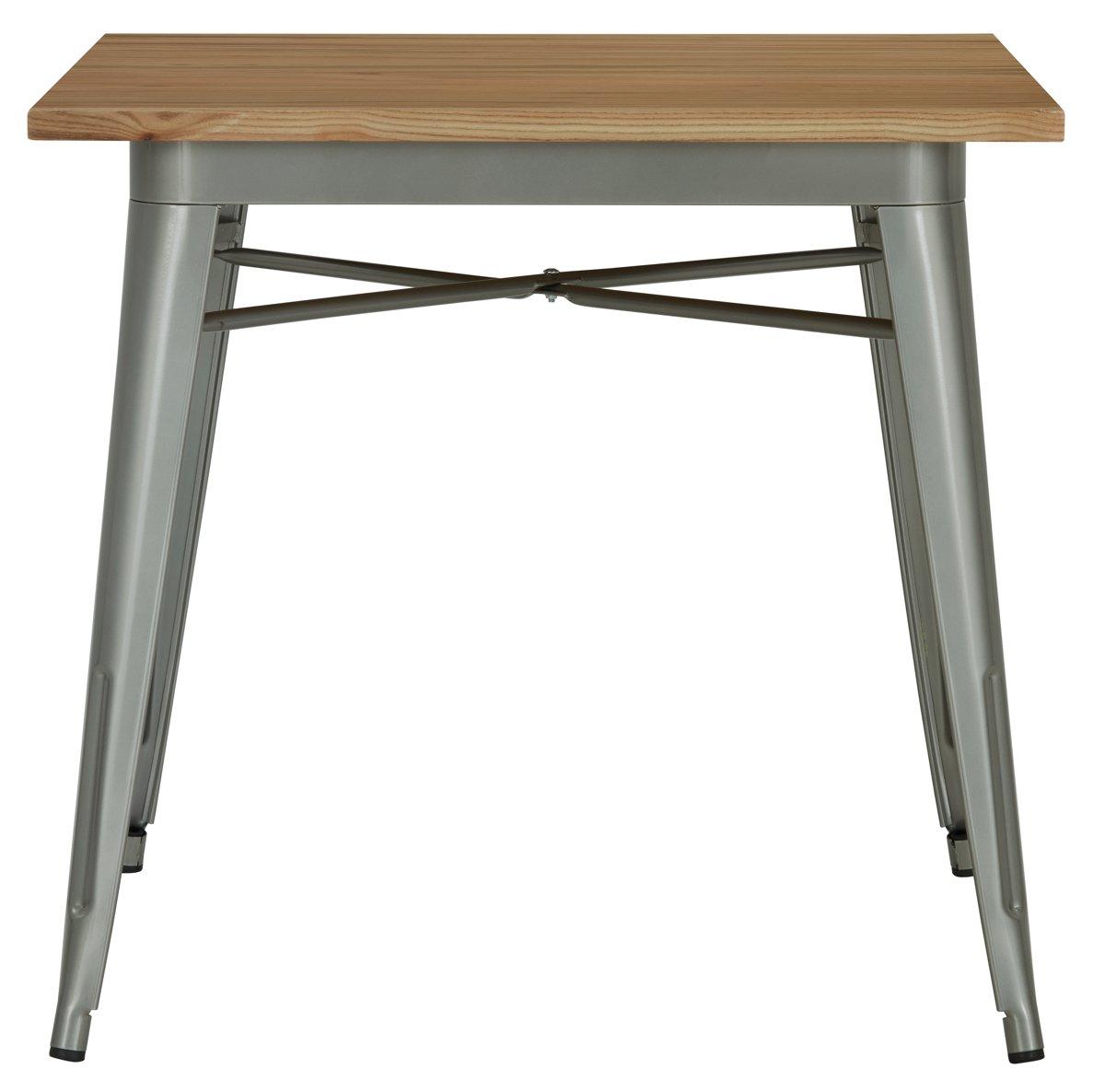 Huntley Light Tone Wood Square Table