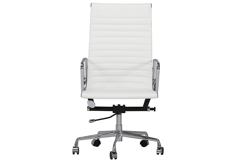 Amos White Desk Chair | Home Office - Office Chairs | City ...