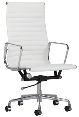 Amos White Desk Chair ...