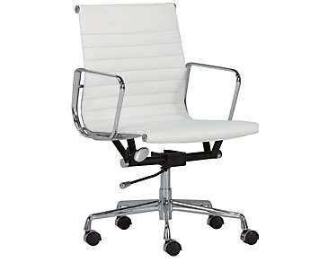 Mateo White Desk Chair