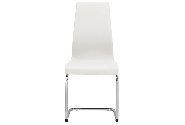 Lennox White Upholstered Side Chair