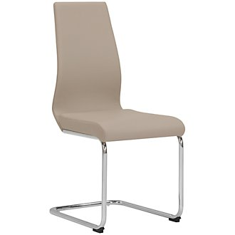 Lennox Taupe Upholstered Side Chair
