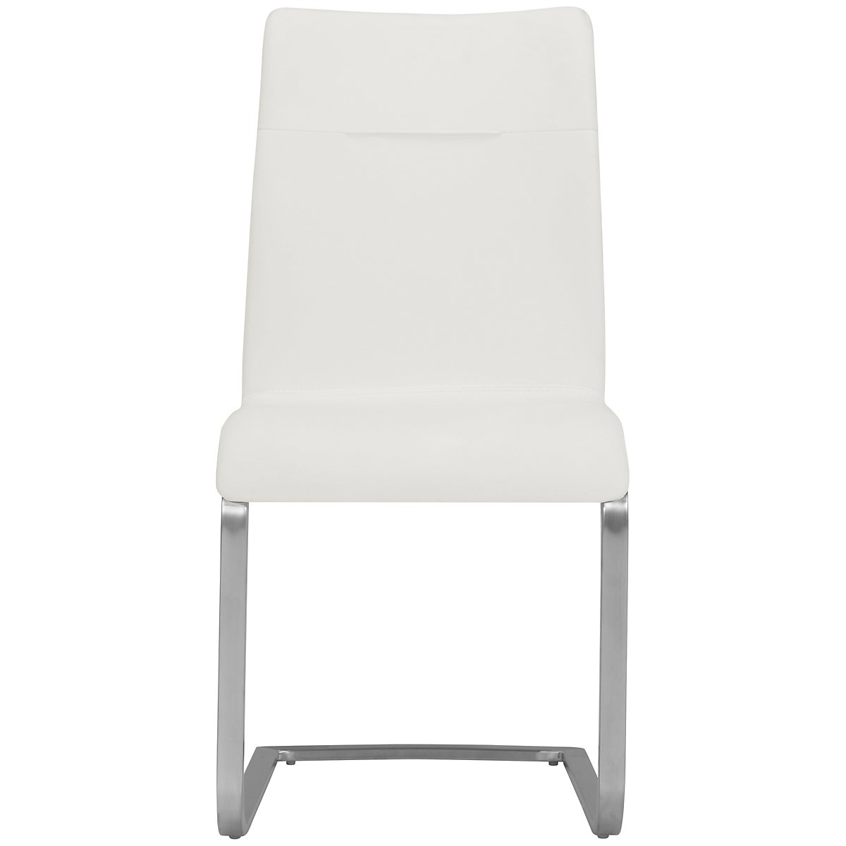 White Fabric Dining Room Chairs: Drake White Fabric Upholstered Side Chair