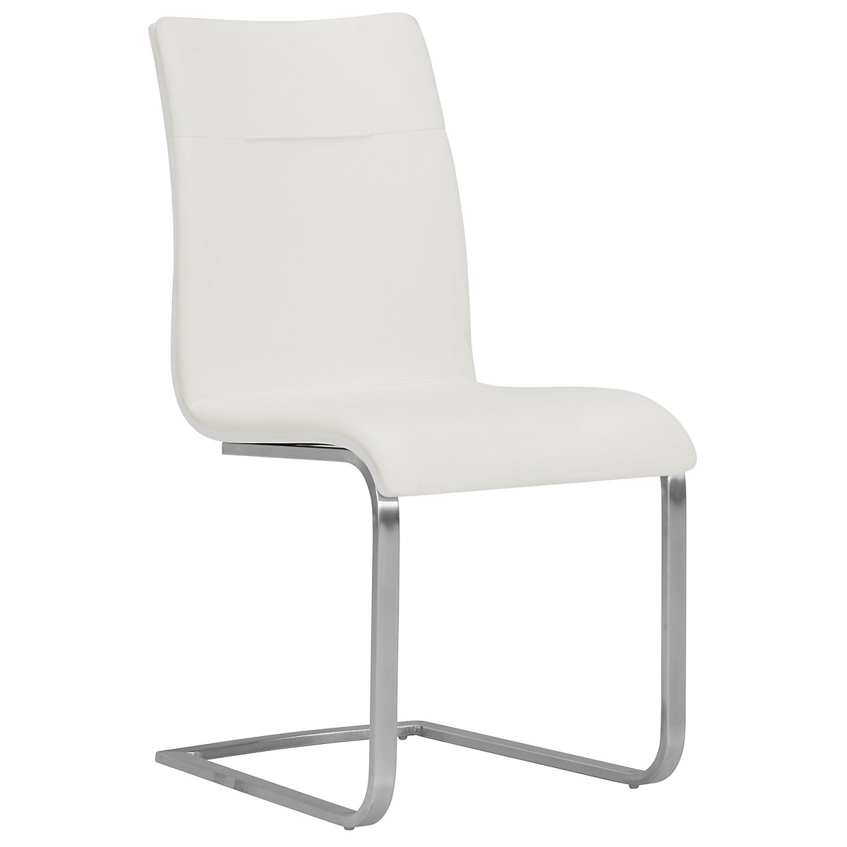 Drake White Upholstered Side Chair