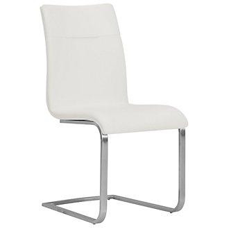 Drake White Upholstered Side Chair