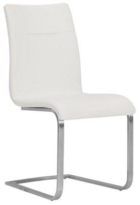 Marvelous Drake White Upholstered Side Chair