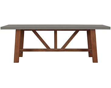 "Canyon Concrete 86"" Rectangular Table"